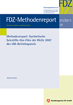 Titelblatt FDZ Methodenreport
